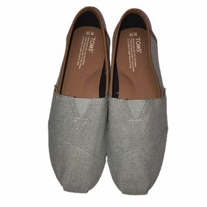 Toms Alpargata Slip-on-Gray and Tan- NWOB- Size 10